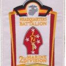 USMC 2nd Marine Division Headquarters Battalion Marine Divivion Patch