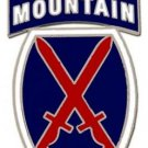 US Army 10th Mountain Division Combat Service Badge (2 inch)