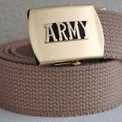 US Army Khaki Belt & Buckle
