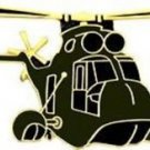 US Army CH-53 Black Helicopter Large Pin