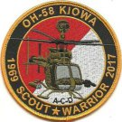 US Army OH-58D Kiowa Warrior Armed Reconnaissance Helicopter 1969 Scout Patch