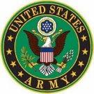 United States U.S. Army Emblem Embossed Metal Sign