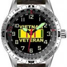 Aquaforce Vietnam Veteran Wrist Watch with Padded Leather Strap & Luminous Hour