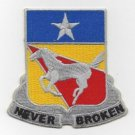 US Army 221st Cavalry Regiment military patch NEVER BROKEN