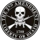 United States 2nd Amendment: Liberty or Death Embossed Metal Sign