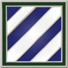 US Army 3rd Infantry Division Combat Service Badge 2 Inch