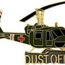 US Army Huey Dust Off Helicopter Large Pin