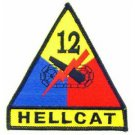 US Army 12th Armored Division Hellcat Division Shoulder Patch