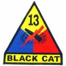 US Army 13th Armored Division Patch Black Cat