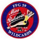 US Navy HSL-46 Det 6 Patch Miss Behavin Wildcards Patch