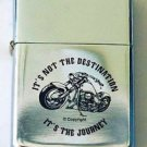 Biker Motorcycle It's Not The Destination It's the Journey Lighter