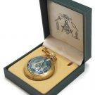 Blue Masonic Pocket Watch