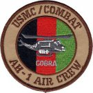 USMC AH-1 Air Crew Afghanistan Combat Helicopter Cobra Patch