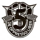 US Army 5th Special Forces Group Crest Patch - DE OPPRESSO LIBER