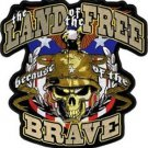 Land of the Free Because of the Brave Back Patch 10 x 10 inch