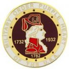 United States Purple Heart Combat Veteran 1-1/2'' Pin Back 1-1/2''