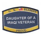 "U.S. Navy Seabee Daughter of a Iraqi Veteran patch - ""PROUD"""