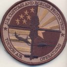US CUSTOMS & BORDER TUCSON AIR & MARINE OPERATIONS BLACKHAWK Novelty Patch