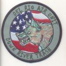 US Customs Del Roo Air Unit Down River Trash Patch Vel Backing novelty item