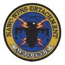 US Navy NAWC-WPNS Detachment Albquerque NM Naval Air Weapon Center Patch