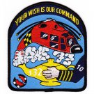 USCG Helocoper Geanie Rescue Squadron 132 Patch YOUR WISH IS OUR COMMAND