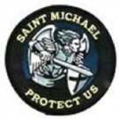 Saint Michael PROTECT US Blue Patch With Vel Backing