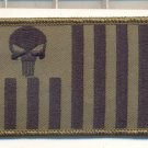 SET OF US CUSTOMS ENSIGN OD GREEN PUNISHER SKULL FLAG PATCH RIGHT & LEFT ARM