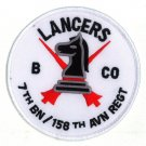 US Army B 7 158TH AVIATION REGIMENT LANCERS PATCH