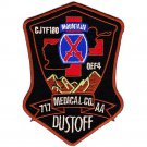 US Army 717th Aviation Medical Co 10th Mountain Div Air Ambulance Dustoff Patch