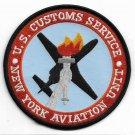 US Customs Service New York Aviation Unit Patch Vel Backing novelty item