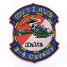US Army 4th Squadron 3rd Aviation Cavalry Regiment Patch OUTLAWS DELTA