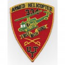 US Army US Army 334th Air Cavalry Company Patch FIRST WITH GUNS ARMED HELICOPTER