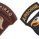 US Army 101st Airborn Double Sided Patch Christmas Tree Ornament Lot Set of 2