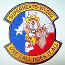 US Navy VF-202 Fighter Squadron with Texas Cowboy Tomcat patch - SUPERHEATS