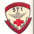 US Army 571st Medical Detachment Helicopter Vietnam Dustoff Patch