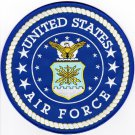 US AIR FORCE 8'' LARGE EMBROIDERED PATCH