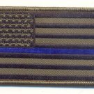 United States American Flag OD Green With Blue Line Patch