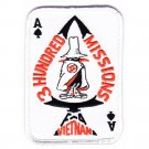 US Marine Corps F-4 Phantom Ace of Spades Card Military Patch 3 HUNDRED MISSIONS