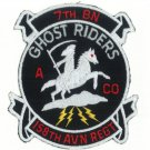 US ARMY A CO 7 158TH AVIATION REGIMENT, GHOST RIDERS PATCH