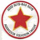 USAF Aggressor Squadron Twelve Vintage Patch Good Guys Bad Guys