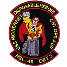 US Navy HSL-46 DET 3 Helicopter Anti-Submarine Squadron Light Patch