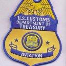 US Customs Dept of Treasury Aviation Patch novelty item