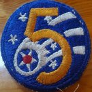 Original WWII US Army 5th Air Force Uniform Vintage Patch Shooting Star 5