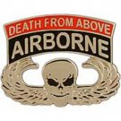 US Army Pararescue Airborne Death Badge Pin