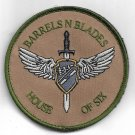 Barres N Blades House Of Six Desert Patch Vel Backing