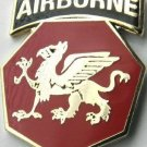 US ARMY 108TH AIRBORNE DIVISION LAPEL PIN BADGE 1 INCH