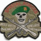 US Army Special Force Mess With The Bwst Die Like The Rest Vietnam Vintage Patch