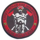 Lucky Fat Man Fire Department Patch with Vel @