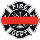 FIRE Department Red Line Badge Patch