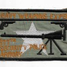 US Army 377th Security Police Armory Heavy Weapons Expert Vietnam Vintage Patch